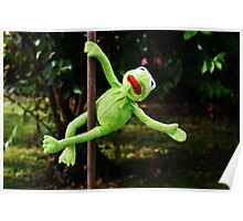 Kermit the frog on a pole Poster