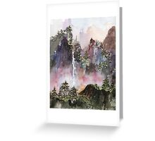 China Falls Greeting Card