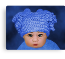 ADORABLE BABY BLUE - PICTURE - CARD Canvas Print