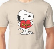 love you snoopy love Unisex T-Shirt