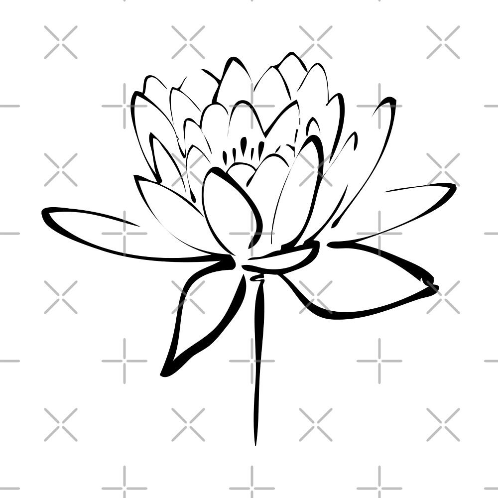 Quot lotus flower calligraphy black by makanahele redbubble