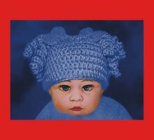 ADORABLE BABY BLUE - PICTURE - CARD Baby Tee