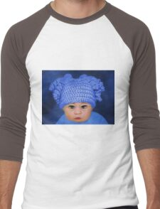 ADORABLE BABY BLUE - PICTURE - CARD Men's Baseball ¾ T-Shirt