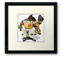 Pikachu Ph.D. Framed Print