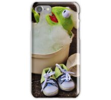 Kermit having a bath iPhone Case/Skin