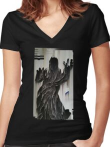 They Reap The Ghosts They Sow  Women's Fitted V-Neck T-Shirt
