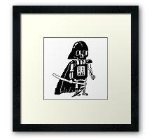Skull Wars Vader Framed Print