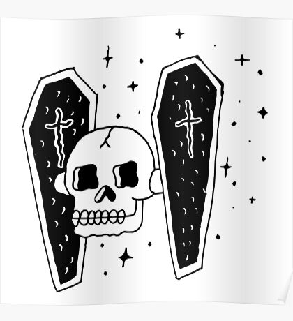 Skull Wars Tie Fighter Poster