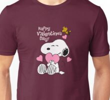 Happy Valentines Day Snoopy Unisex T-Shirt