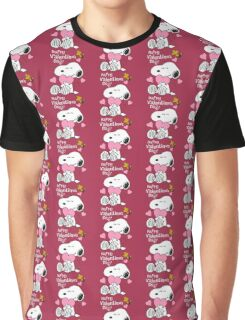 Happy Valentines Day Snoopy Graphic T-Shirt