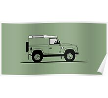 A Graphical Interpretation of the Defender 90 Hard Top Heritage Edition Poster
