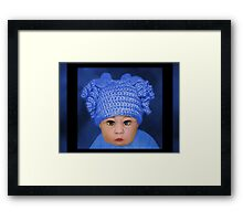ADORABLE BABY BLUE CHILDRENS PILLOWS AND OR TOTE BAG Framed Print