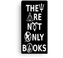 Not only books Canvas Print