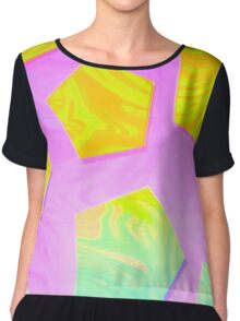 psychedelic pentagons Chiffon Top