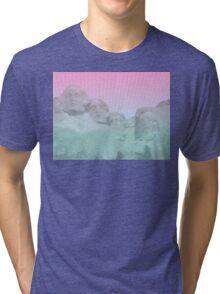 Vaporwave Mount Rushmore  Tri-blend T-Shirt