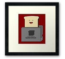 Nintendo Sandwich (Nintendo Switch Parody) Framed Print