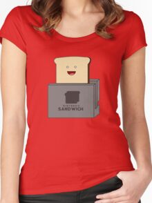 Nintendo Sandwich (Nintendo Switch Parody) Women's Fitted Scoop T-Shirt