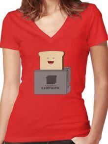Nintendo Sandwich (Nintendo Switch Parody) Women's Fitted V-Neck T-Shirt