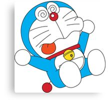 Doraemon Confuse Canvas Print