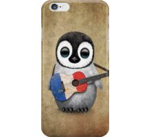 Baby Penguin Playing French Flag Guitar iPhone Case/Skin