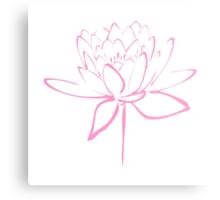 Lotus Flower Calligraphy (Pink) Metal Print