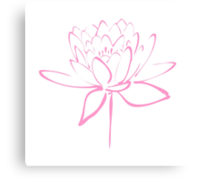Lotus Flower Calligraphy (Pink) Canvas Print