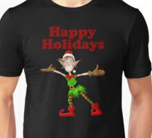 Christmas Elf Happy Holidays Unisex T-Shirt