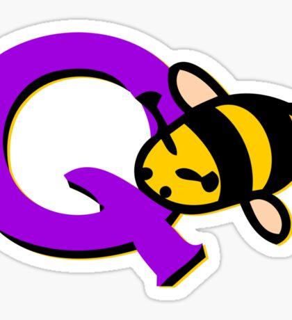 Q-Bee (Cute) Sticker