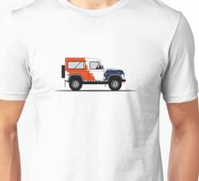 A Graphical Interpretation of the Defender 90 Station Wagon Bowler Motorsport Challenge (1) Unisex T-Shirt