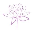 Lotus Flower Calligraphy (Lavender) by Makanahele