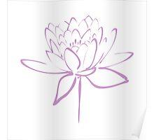Lotus Flower Calligraphy (Lavender) Poster