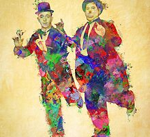 Stan Laurel and Oliver Hardy by solnoirstudios