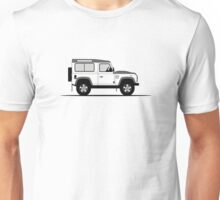 A Graphical Interpretation of the Defender 90 Station Wagon Fire and Ice Edition Unisex T-Shirt