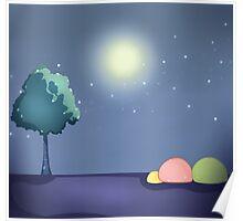 Moon Viewing Dango Poster