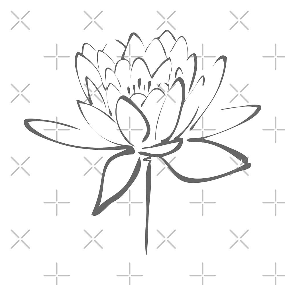 Lotus Flower Calligraphy (Smoke Grey) by Makanahele