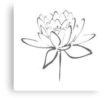 Lotus Flower Calligraphy (Smoke Grey) Canvas Print