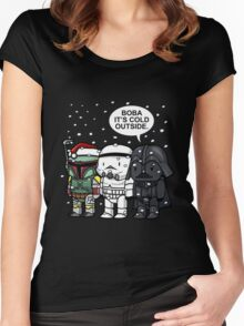 Boba Fett - It's Cold Outside Women's Fitted Scoop T-Shirt