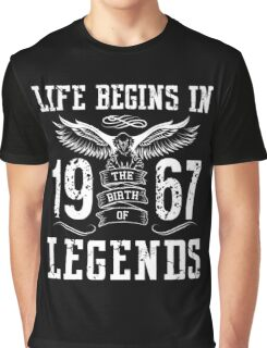 Life Begins In 1967 Birth Legends Graphic T-Shirt