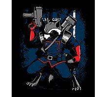 Battle Raccoon Photographic Print