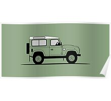 A Graphical Interpretation of the Defender 90 Station Wagon Heritage Edition Poster