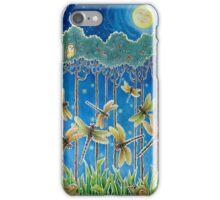 Moonrise & Dragonflies iPhone Case/Skin