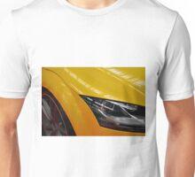 Yellow car detail of headlight Unisex T-Shirt