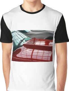Red car detail of windscreen and hood Graphic T-Shirt