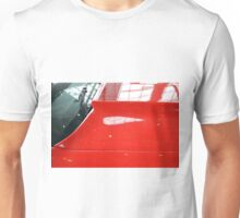Red car detail of windscreen and hood Unisex T-Shirt