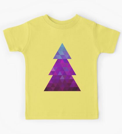 Triangle Christmas Tree (Purple) Kids Tee