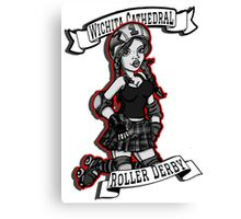 Wichita Cathedral Roller Derby  Canvas Print