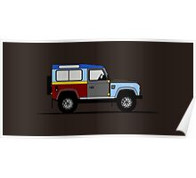 A Graphical Interpretation of the Defender 90 Station Wagon Paul Smith Poster