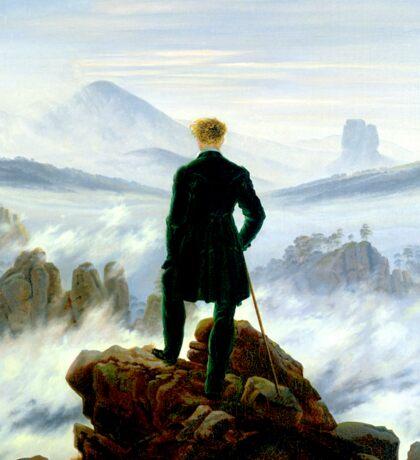 Wanderer above the Sea of Fog Sticker