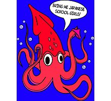 Giant Squid (Bring Me Japanese School Girls) Photographic Print