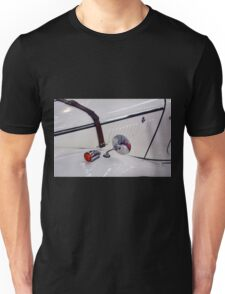 Detail of white vintage classic car Unisex T-Shirt